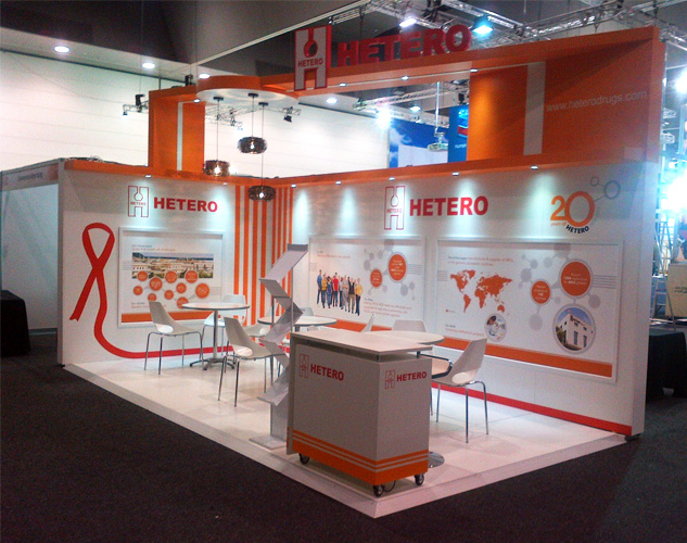 Exhibition Stall Makers : Customised exhibition stall design for aids conference
