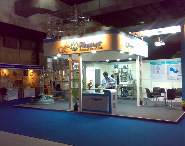 Custom built booths for Chemspec India