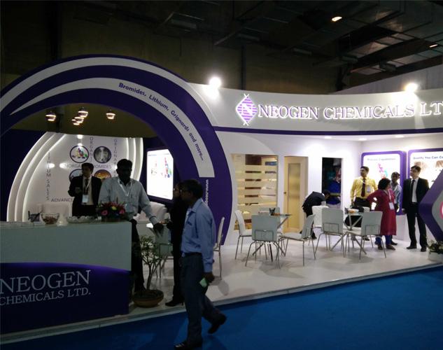Custom built booths for Chemspec India