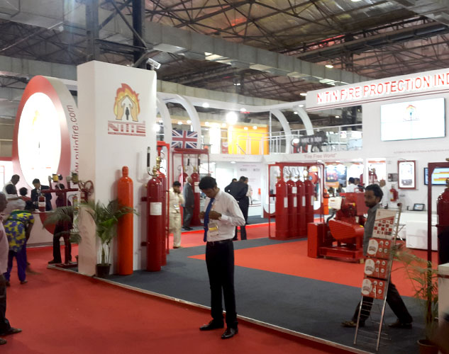 Exhibition Stall Concepts : Custom built stall designs for fire safety expo